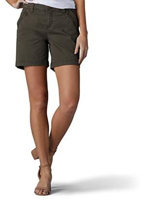 Lee Women's Straight Fit Tailored Zipper Short