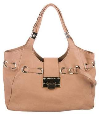 Jimmy Choo Pebbled Leather Hobo