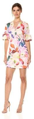Trina Turk Trina Women's Jacqueline Flutter Short Sleeve Dress