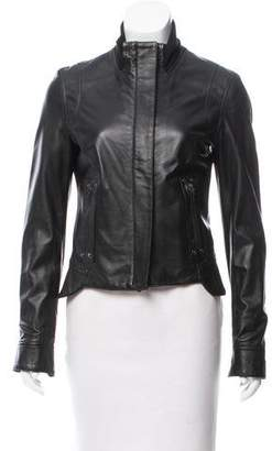 Manrico Cashmere Tailored Leather Jacket