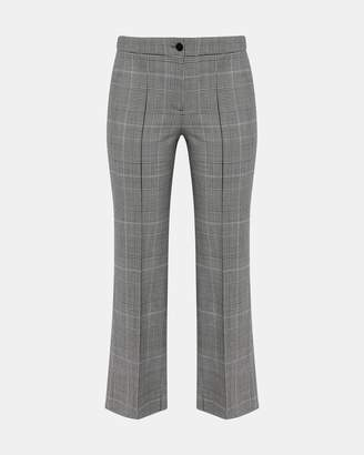 Theory Plaid Cardinal Trouser