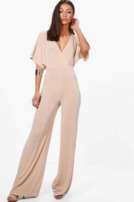 boohoo Tall Preya Premium Fabric Wide Leg Jumpsuit
