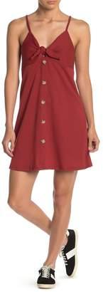 Cotton On Teagan Tie Accent Ribbed Knit Mini Dress