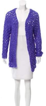 Nina Ricci Embellished Open Knit Cardigan