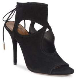 Aquazzura Sexy Thing Cut-Out Suede Sandals