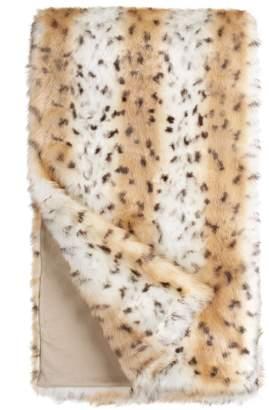 Donna Salyers' Fabulous Furs Donna Salyers Faux Fur Throw - Snow Leopard