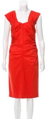 Robert Rodriguez Ruched Midi Dress w/ Tags