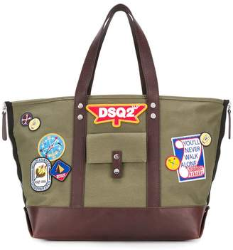 DSQUARED2 DSQ2 patch tote bag