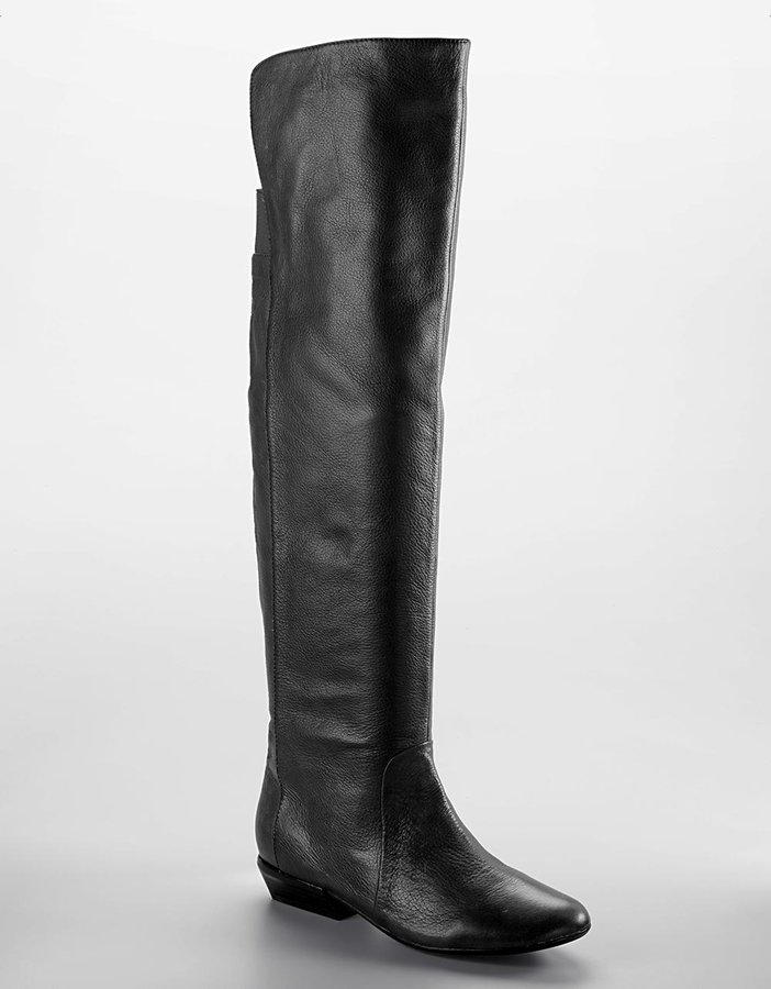 Dolce Vita Eve Low-Heel Tall Leather Boots