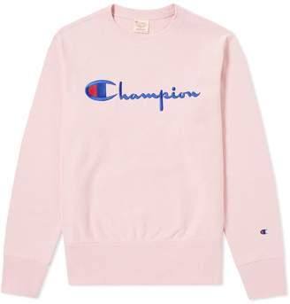 Champion Reverse Weave Script Logo Crew Sweat