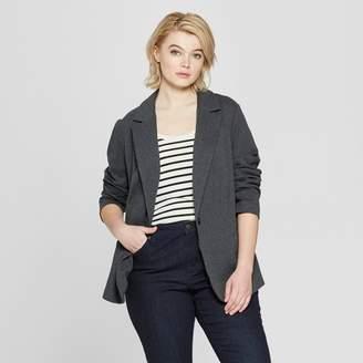 Ava & Viv Women's Plus Size Knit Blazer