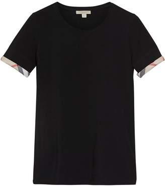 Burberry check cuff T-Shirt