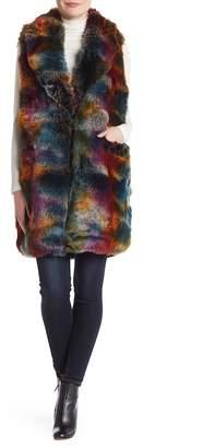 Betsey Johnson Elongated Faux Fur Vest
