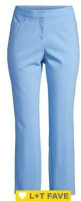 Rafaella Slant-Pocket Twill Ankle Pants