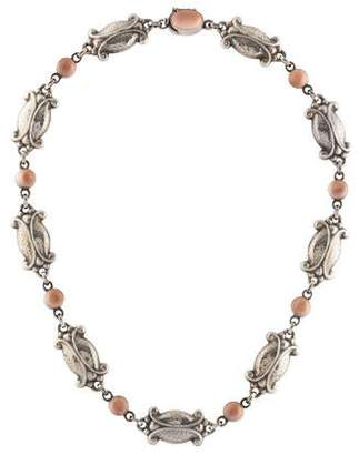 Georg Jensen Moonstone Moonlight Blossom Collar Necklace