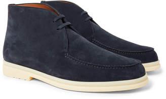 Loro Piana Walk and Walk Suede Chukka Boots - Men - Blue