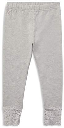 Polo Ralph Lauren Girls' Lace-Trim Leggings - Little Kid