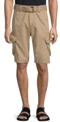 Jet Lag Belted Camo Cargo Shorts