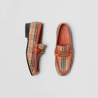 Burberry The 1983 Check Link Loafer , Size: 36, Red