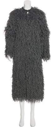 Michael Kors Shag Knit Long Coat