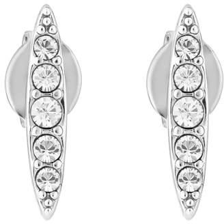 Adore Pave Crystal Navette Stud Earrings