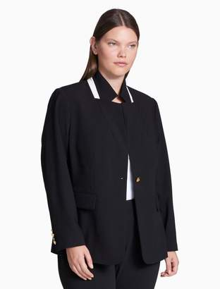 Calvin Klein plus size luxe single button jacket