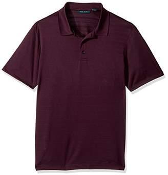 Perry Ellis Men's Solid Pique 3 Button Polo Shirt
