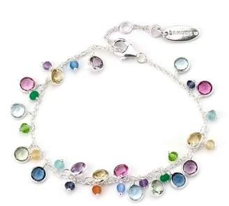 Samuel B Jewelry Sterling Silver Multi-Stone Charm Bracelet