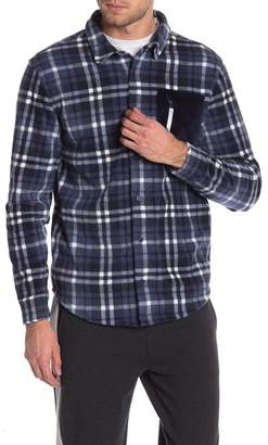 Threads 4 Thought Cozy Plaid Faux Fur & Fleece Shirt