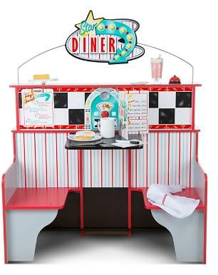 Melissa & Doug Star Diner Restaurant & Play Set Accessories Bundle - Ages 3+