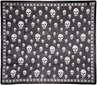 Alexander McQueen Black & Ivory Skull Scarf $275 thestylecure.com
