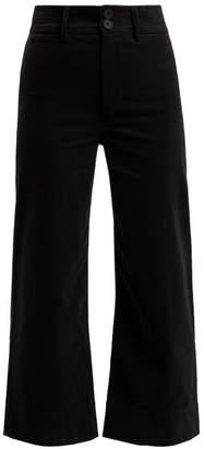 Apiece Apart Merida Corduroy Cropped Trousers - Womens - Black
