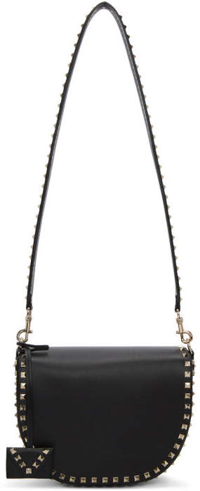 Valentino Black Valentino Garavani Rockstud Messenger Bag