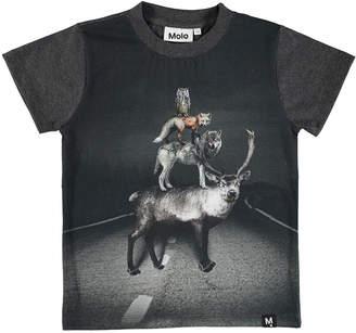 Molo Raymont Road Animals Short-Sleeve Tee, Size 4-10