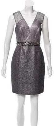 Phoebe Couture Embellished Metallic Dress