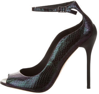 B Brian Atwood Iridescent Snakeskin Pumps $145 thestylecure.com