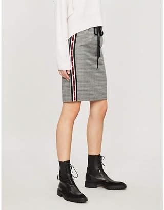 The Kooples High-waist side-stripe checked flannel mini skirt