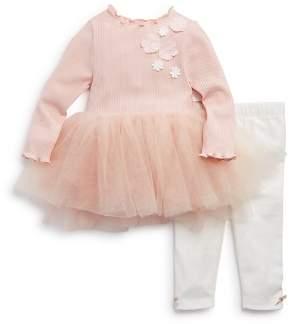 Miniclasix Girls' Ribbed Tutu Top & Leggings Set - Baby