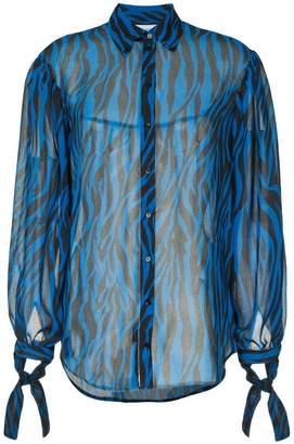 Robert Rodriguez sheer animal print blouse