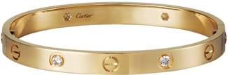 Cartier Yellow Gold Diamond Love Bracelet