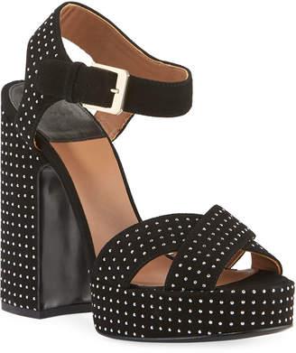 Laurence Dacade Rosange Suede Studded Platform Sandals