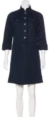 Magaschoni Line-Blend Mini Dress