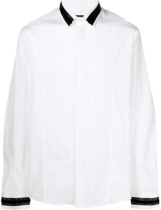 Les Hommes contrast trim shirt