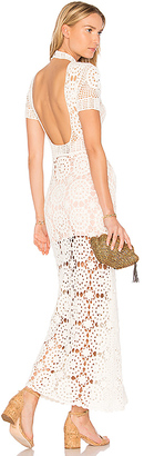 MAJORELLE Therese Dress in Ivory $328 thestylecure.com