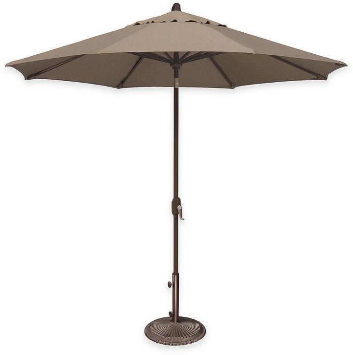SimplyShade® Lanai 9-Foot Octagon Auto-Tilt Market Umbrella in Sunbrella® Fabric