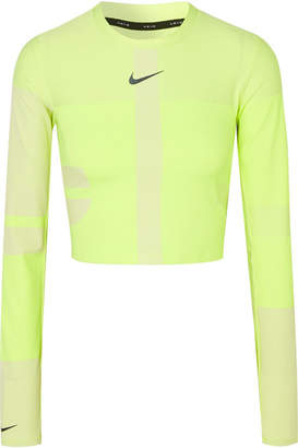 Nike Tech Pack 2.0 Run Cropped Neon Stretch Top - Bright yellow