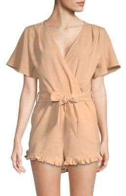 Lucca Couture Mackenzie Flutter-Sleeve Romper