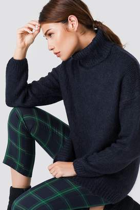 NA-KD Na Kd Folded Oversized Knitted Sweater Grey Melange