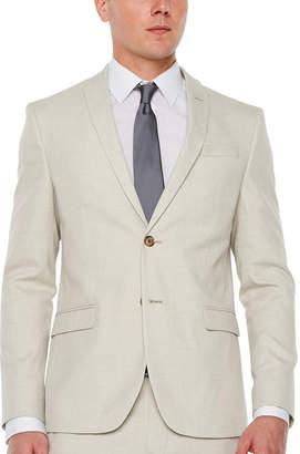 Jf J.Ferrar Light Tan Slub Super Slim Fit Stretch Suit Jacket
