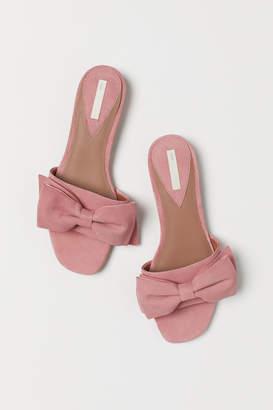 H&M Suede Slides - Pink